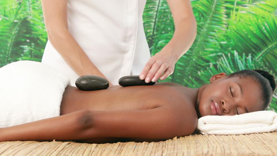 image of hot stone massage